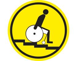 """Знак """"Осторожно! Лестница вниз"""""""