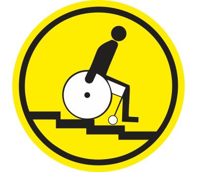 """Предупреждающий знак """"Осторожно! Лестница вниз"""""""