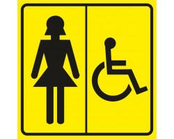 """Пиктограмма """"Женский туалет для инвалидов"""""""