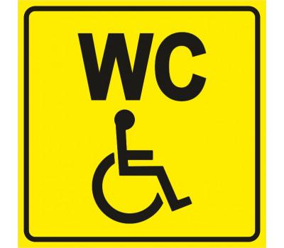 """Тактильная пиктограмма """"Туалет для инвалидов"""""""