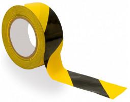 Самоклеящаяся лента, жёлто-чёрная 80 мкр (50 мм х 25 м)