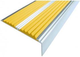 Угол-порог с 2 вставками желтого цвета 2 м.